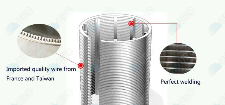 metal wedge mesh strainer for water filter