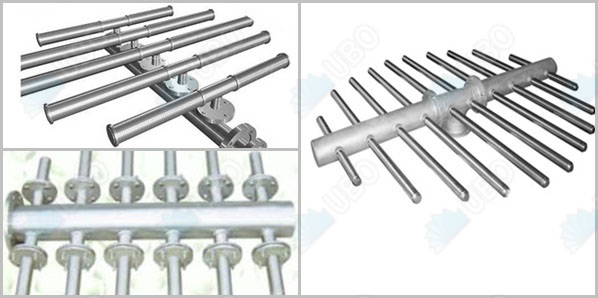 stainless steel wedge wire collector for larger diameter filters