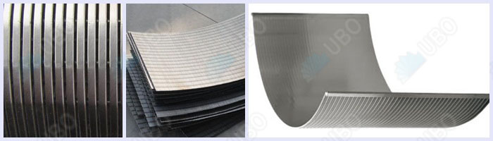 Wedge wire sieve bend screen parabolic type screen panel filter for waste water treatment