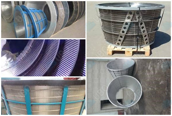 stainless steel coal mineral screen basket