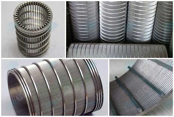 Rotary sieve wedge wire drum screen