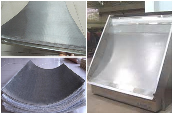 stainless steel run down screen  for food processing