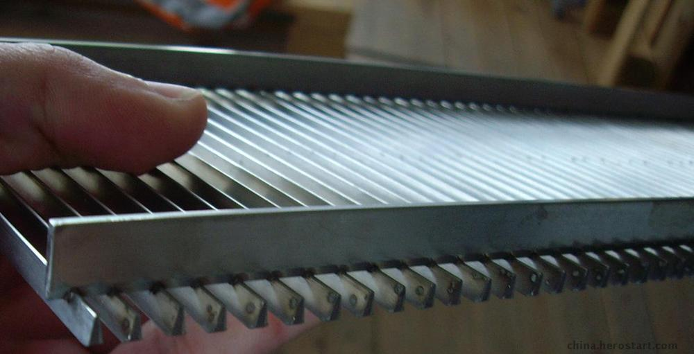 Johnson wedge wire screen v wire Panel for fish diversion