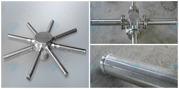 Stainless steel wedge wire screen distributor for filtration