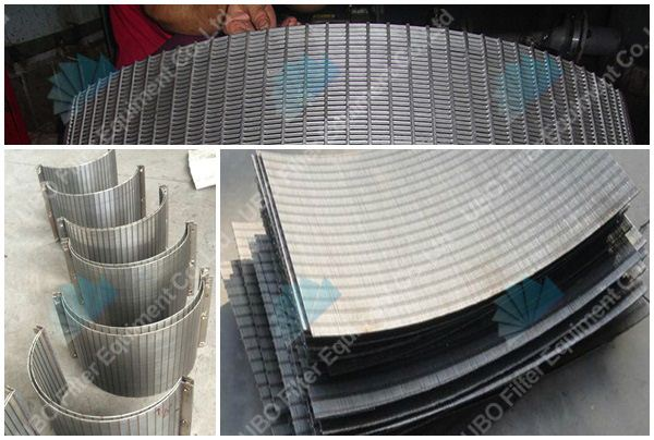 Stainless steel V-wire curve bend screen