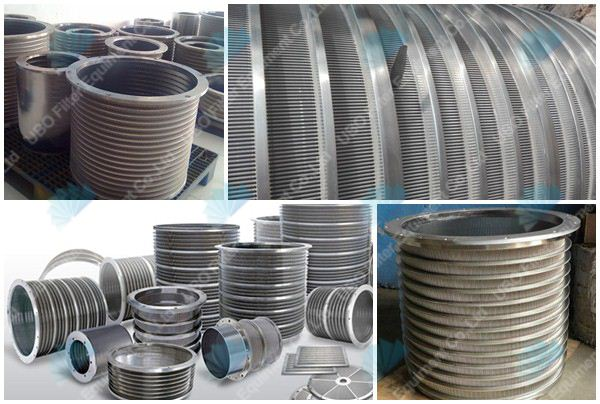 Stainless steel  v shap wire screen basket for paper mills