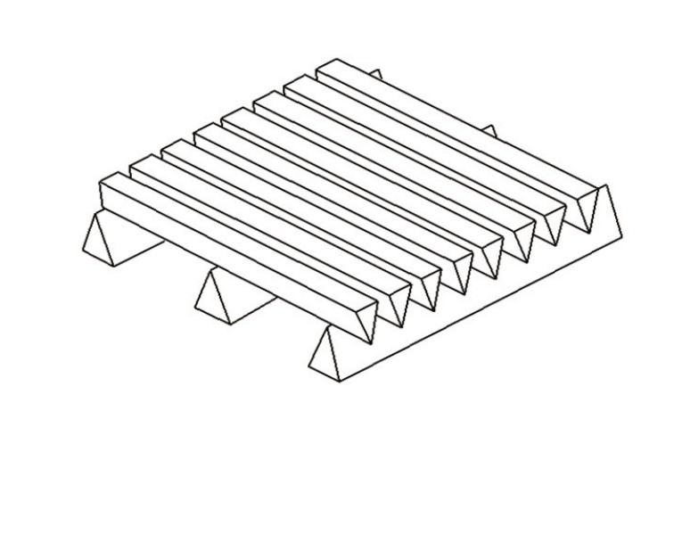 Slotted wedge wire screen panel