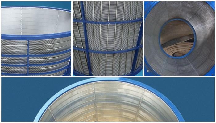 Johnson screen for centrifuge basket