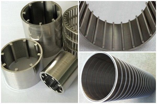 wedge metal wire round screen pipe for filtration