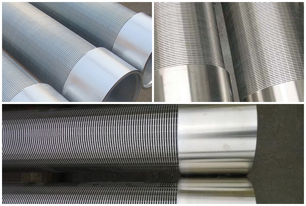 SS304 self cleaning wedge wire screen casing pipe