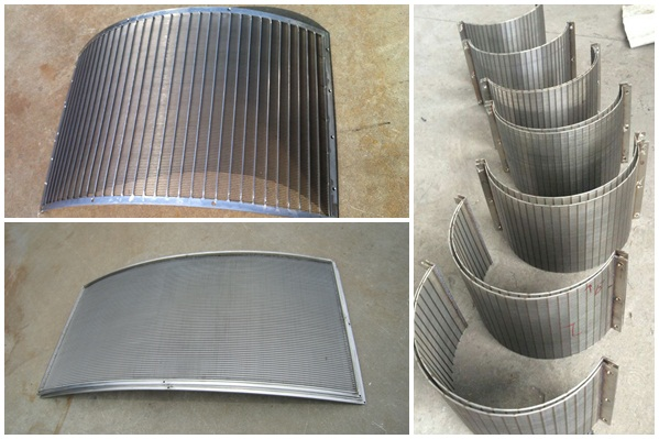 Coal wedge wire sieve bend screen for mining