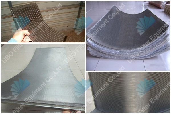 stainless steel side hill screen for filtratio