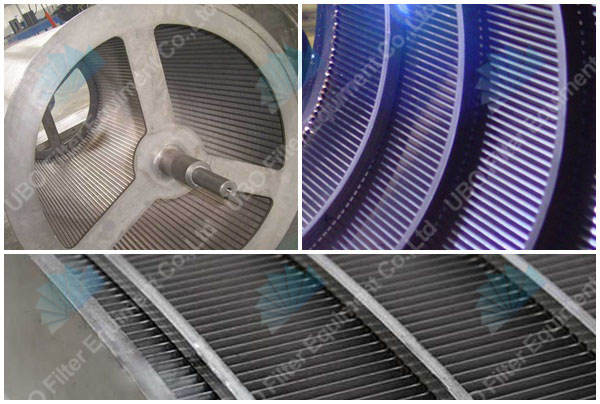 Wedge wire centrifugal screen for water softener
