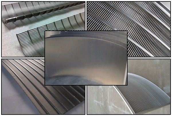 Stainless steel low carbon wedge wire sieve bend screen panel
