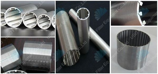 Stainless steel v shap wedge wire screen cylinder