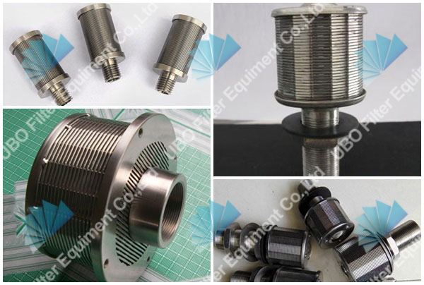 Water slot well screen filter nozzle for liquid filtration