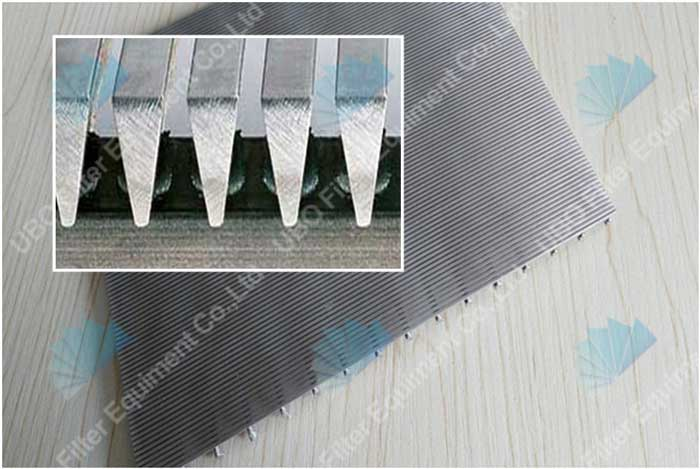 V shapped slot wire <a href='http://www.ubowedgewire.com/' target='_blank'>wedge wire screen</a> panel for waste water treatment