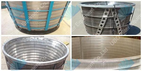 Stainless steel centrifuge sieve screen basket