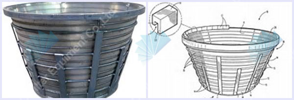 V-WIRE pressure screen slotted basket