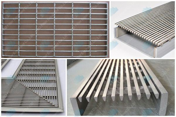 stainless steel pool trench drain wedge wire floor grating