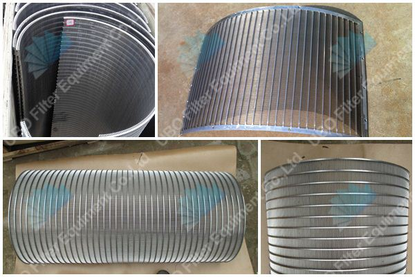 stainless steel wedge wire run down screen