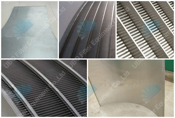 SS Water Well Screen V Wire Curve Bend Screen Panel