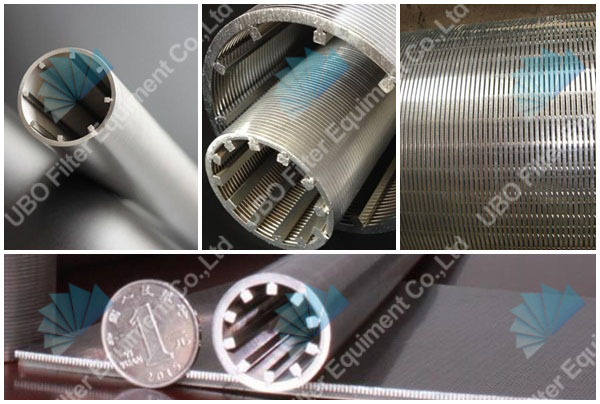 Johnson SS wedge wire all-welded wire wrapped screen pipe