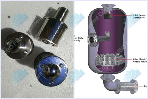 SS Johnson water sand filter nozzle strainer