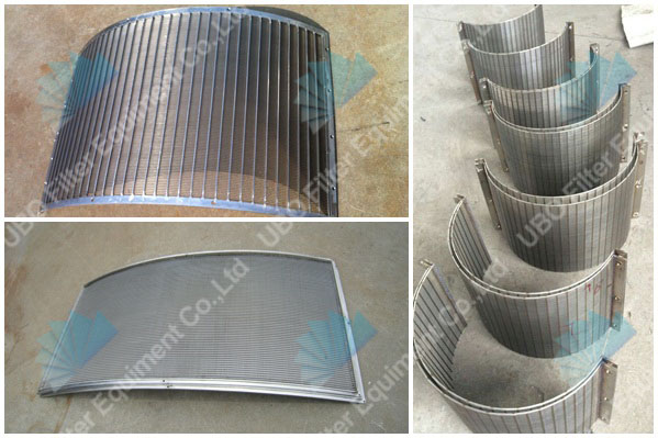 Wedge vee wire arc sieve bend screen plate for aquaculture application