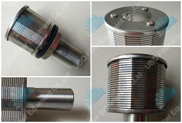 Stainless steel johnson wedge wrapped wire screen filter nozzle strainer