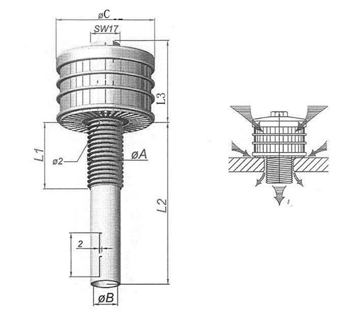 low carbon steel water filter nozzle