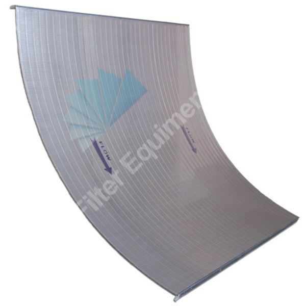 Wedge wire sieve bend arc screen plate