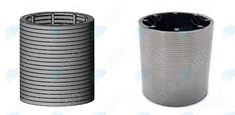 Stainless steel wedge wrapped wire screen pipe strainer for wasetwater treatment