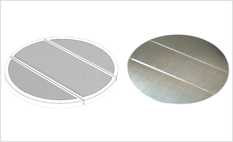 Wedge wire screen false bottom for lauter tuns