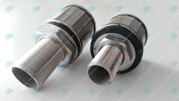 wire wrapped slotted continuous water well screen filter nozzle