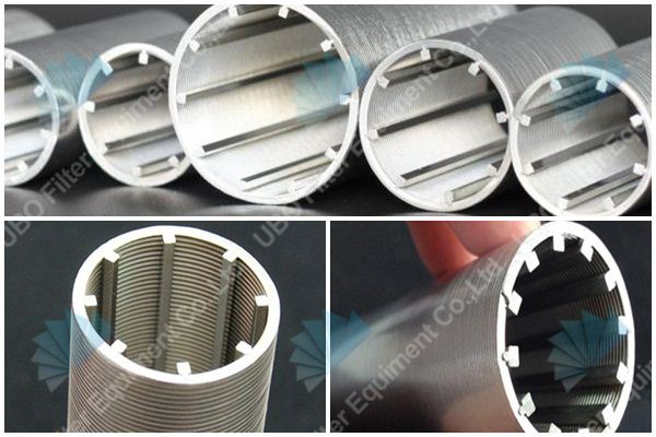 Stainless steel slotted wire screen pipe filter