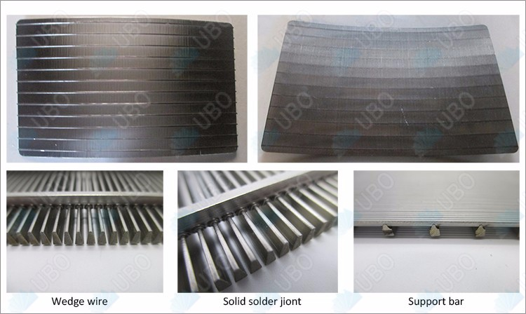 Wedge wire wrapped sieve bend screen plate for wast water filtration