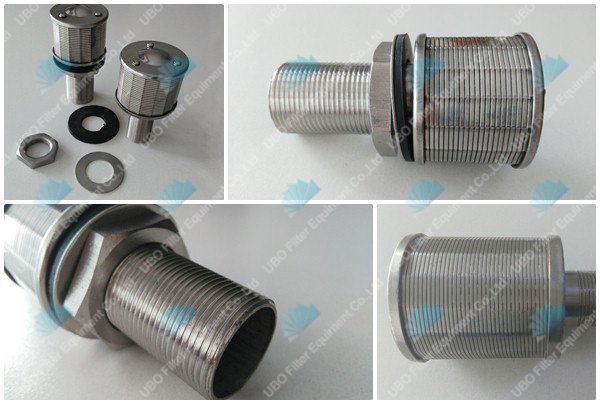 Johnson wedge wire screen nozzle strainer used for activated carbon filtration