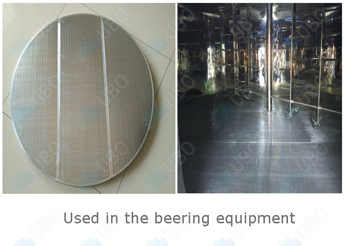 application of Wedge wire lauter tun screens for brewing tank false bottom