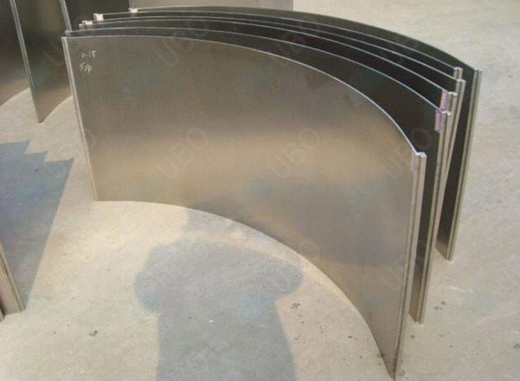 Metal Plate Wedge : Stainless steel wedge wire screen parabolic cureved