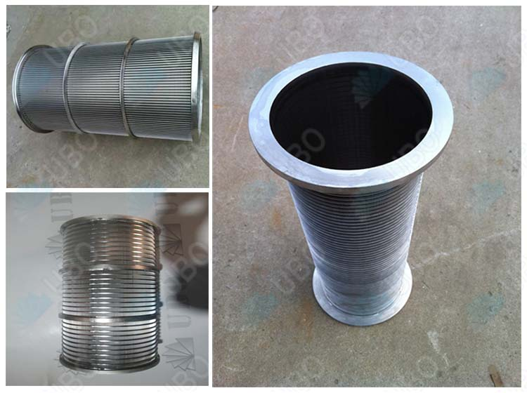 Stainless steel wedge wire drum screen wedge wire basket cylinder