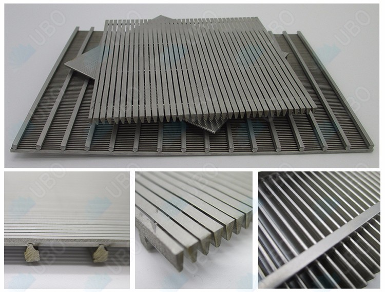 Johnson flat <a href='http://www.ubowedgewire.com/' target='_blank'>wedge wire screen</a> panel for waste water treatment