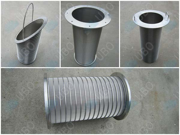 Johnson vee-wire rotary sieve screen cylinder rotating sieve screens