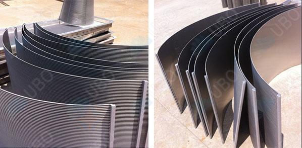 Wedge wire arc screen curved panel for food processing & wastewater treatment