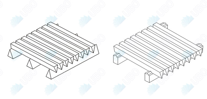 wedge wire screen panel structure