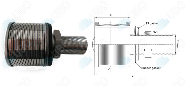 Johnson water filter nozzle <a href='http://www.ubowedgewire.com/' target='_blank'>wedge wire screen</a> supplier