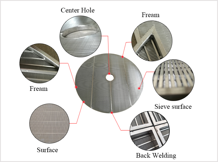 structure of Wedge wire lauter tun screens for brewing tank false bottom