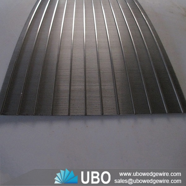Stainless Steel Screens : Stainless steel wedge wire run down screen