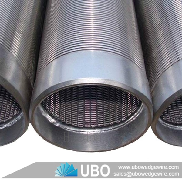 Stainless Steel Screens : Wedge wire water well screen with plain end stainless