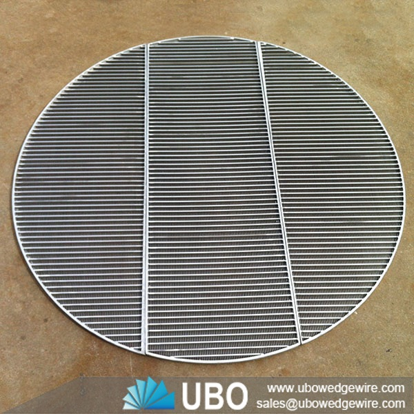 Stainless Steel Screens : Stainless steel wedge v wire screen support grid welded
